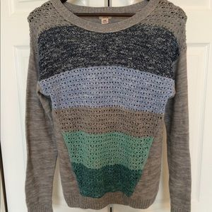 Gray Mossimo Sweater w/ Stripes